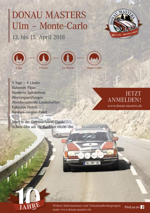 Donau Masters Ulm – Monte-Carlo 13. bis 15. April 2018