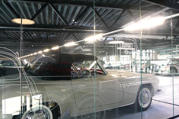 Oldtimer-Loft Glasscheibe